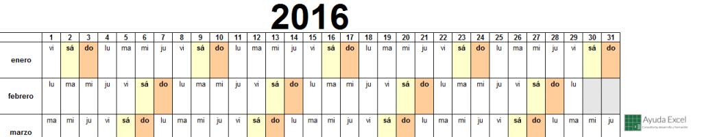 Calendario 2016 03