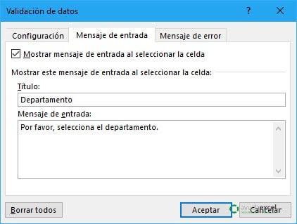 07 Mensaje entrada validación de datos