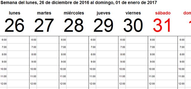 Plantillas calendario en Excel 2017 - Ayuda Excel