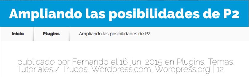entrada wordpress fecha actualizada