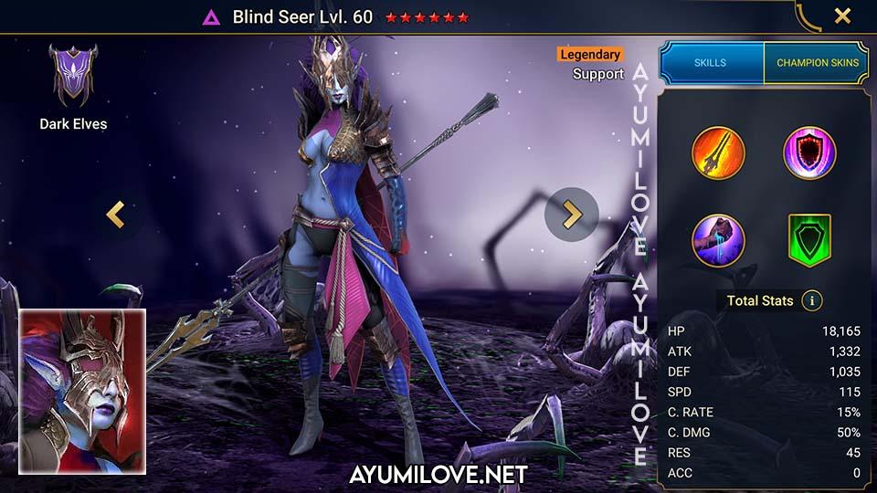 Blind Seer   DE-LSV   Raid Shadow Legends Skill Mastery Equip Guide   AyumiLove