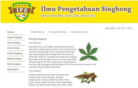 Manfaat Singkong