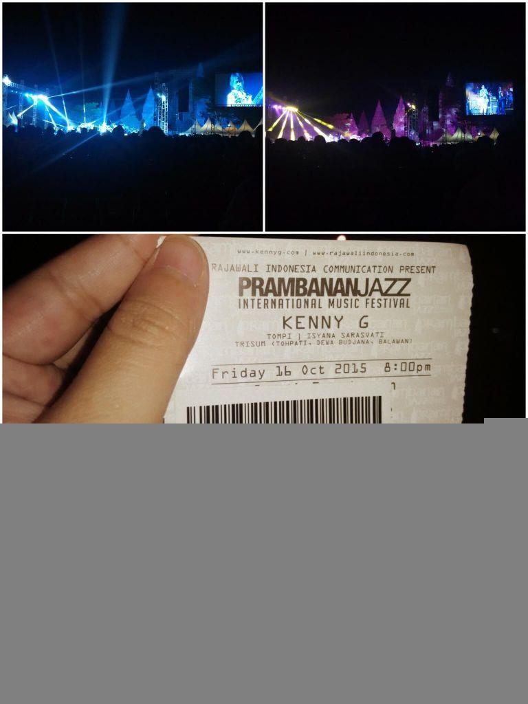 Konser Kenny G at Prambanan- okt 2015
