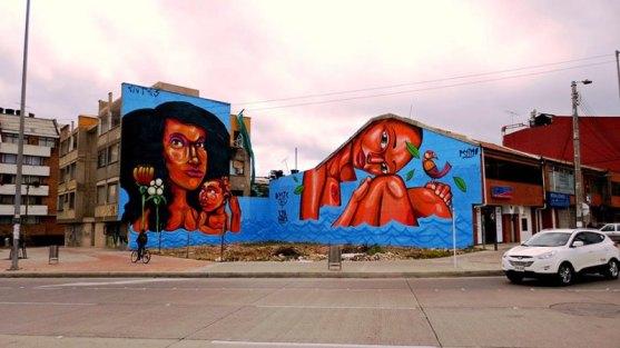 Kota dengan Seni Jalanan Terbaik di Dunia - Seni-Jalanan-Lukisan-Mural-di-Kota-Bogota-di-Kolombia-1