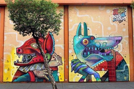 Kota dengan Seni Jalanan Terbaik di Dunia - Seni-Jalanan-Lukisan-Mural-di-Kota-Mexico-City-di-Meksiko-1