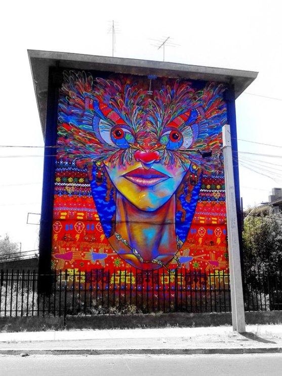 Kota dengan Seni Jalanan Terbaik di Dunia - Seni-Jalanan-Lukisan-Mural-di-Kota-Santiago-di-Chile-1