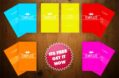 Template Photoshop PSD Kartu Nama Unik Free Download