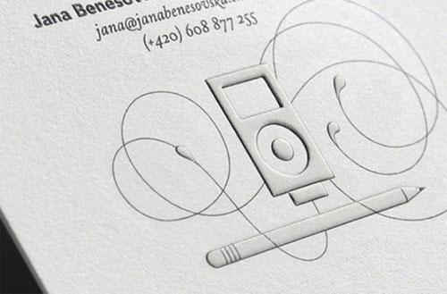 Desain Kartu Nama dengan Cetak Emboss
