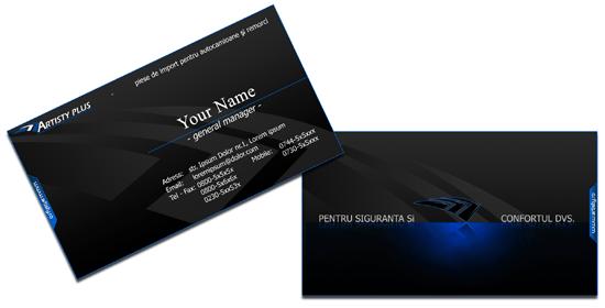 black-business-card Photoshop PSD Kartu Nama Unik
