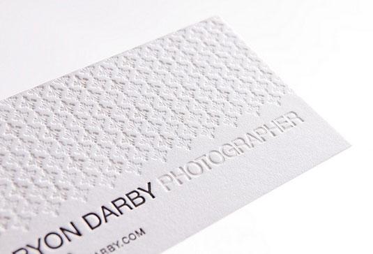 Desain Kartu Nama dengan Cetak Letter Press - bryon