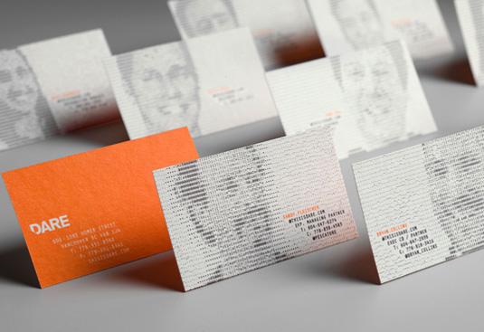 Desain Kartu Nama dengan Cetak Letter Press - dare1