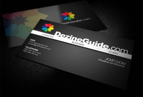 Photoshop PSD Kartu Nama Unik