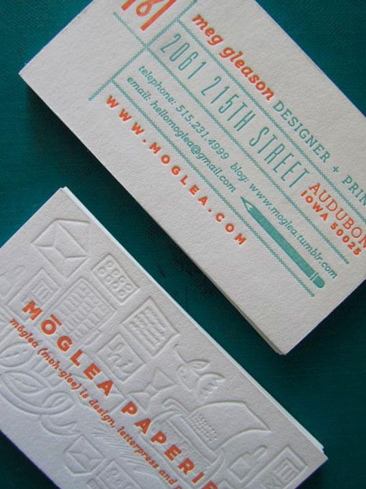 Desain Kartu Nama dengan Cetak Letter Press - meggleason