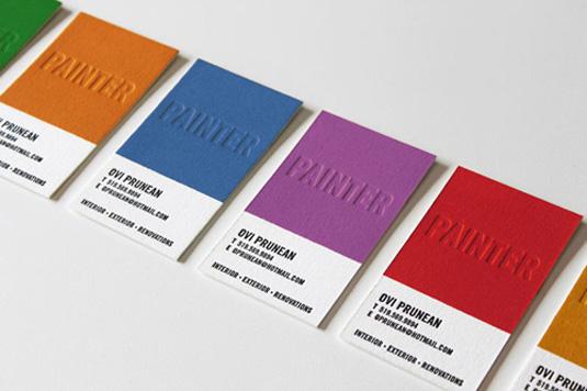Desain Kartu Nama dengan Cetak Letter Press - ovi_prunean