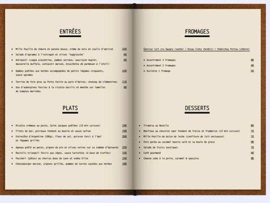 Desain Menu Restoran Yang Akan Menginspirasi Media Marketing