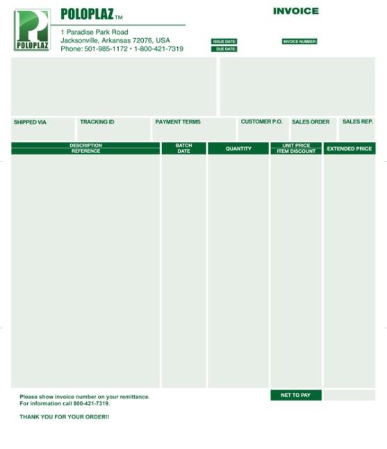 Contoh Desain Invoice Surat Daftar Tagihan untuk Bisnis Perusahaan