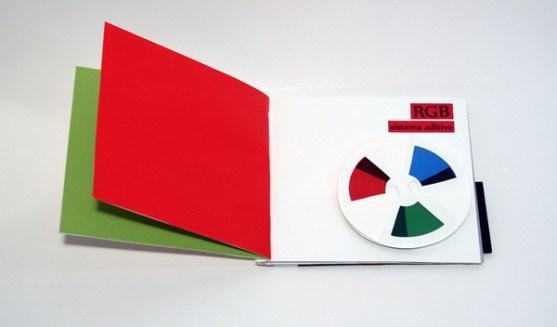 Contoh Desain Brosur Pop Up sebagai Corporate - Three-dimensional brochure about color
