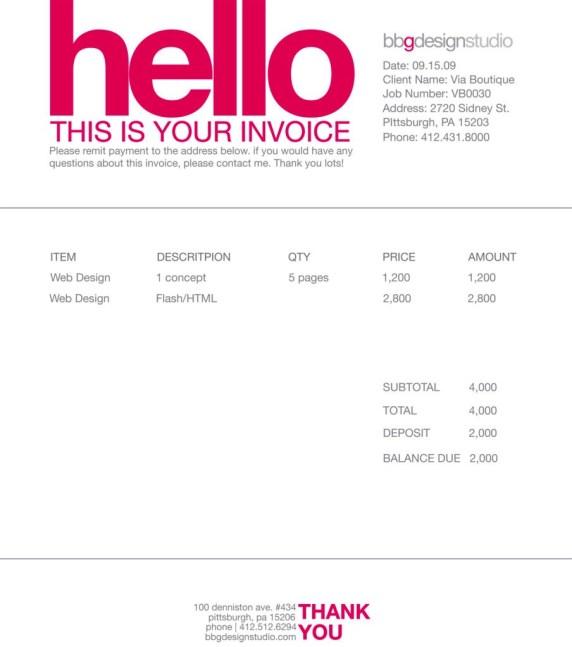 Contoh Faktur Invoice Tagihan - Contoh Desain Invoice Faktur Tagihan 11