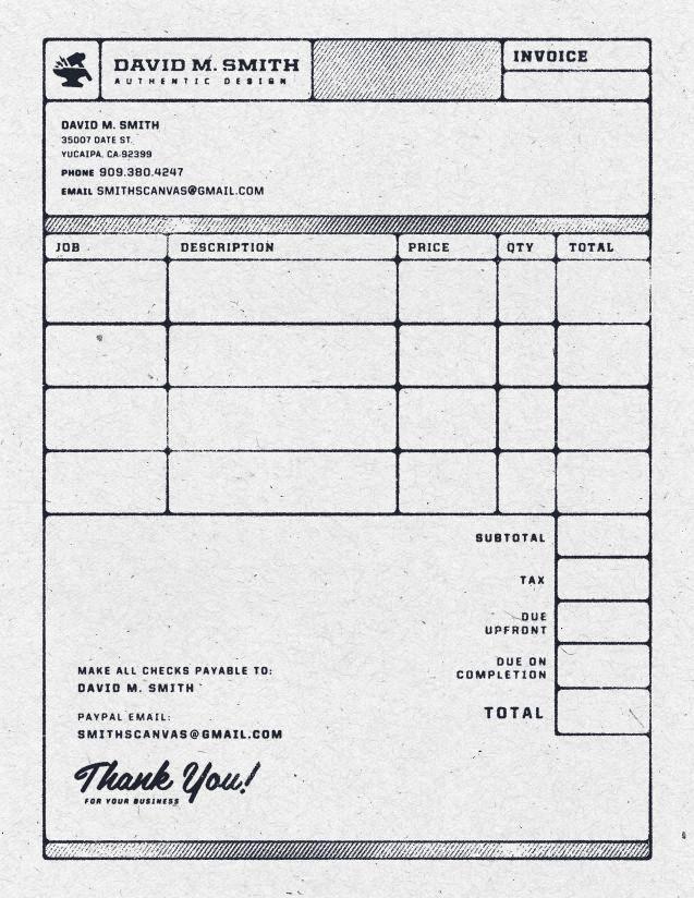 Contoh Faktur Invoice Tagihan Dengan Desain Menarik 23