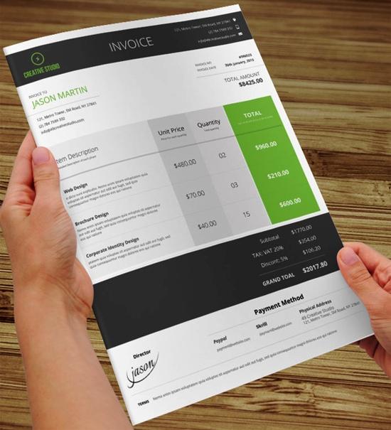 Contoh Faktur Invoice Tagihan - Contoh Desain Invoice Faktur Tagihan 21
