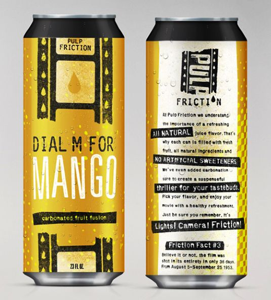 packaging design - Movie-inspired drinks