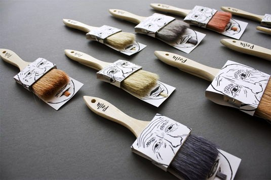 packaging design - Poilu paintbrushes
