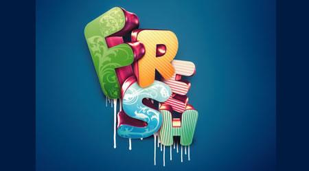 Tutorial Membuat Effek Teks di Photoshop - 3D-typographic-effects-in-Photoshop-Nik-A