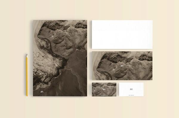 Desain Stasioneri Inspiratif Siap Print dan Cetak - AM Design Identity