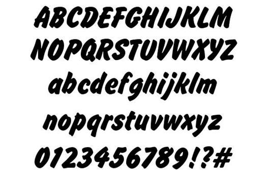 Download 100 Font Gratis untuk Desain Grafis dan Web - Brush Hand New Free Font