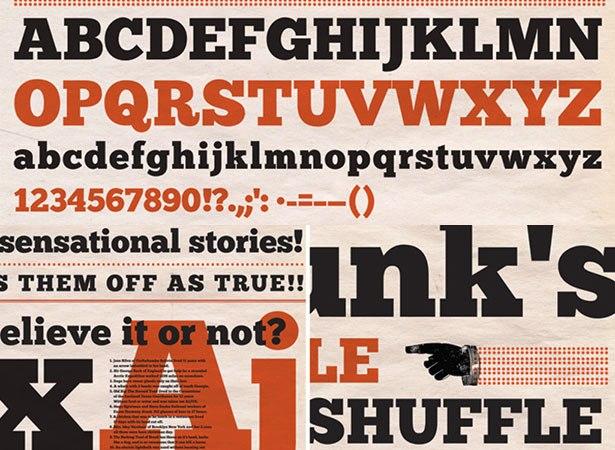 Download 100 Font Gratis untuk Desain Grafis dan Web - Chunkfive Free Font