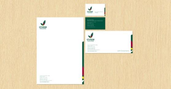 Contoh Desain Kop Surat dan Kartu Nama Paling Kreatif - Contoh-Desain-Kop-Surat-Kreatif-01-Crusoe-College-Stationery