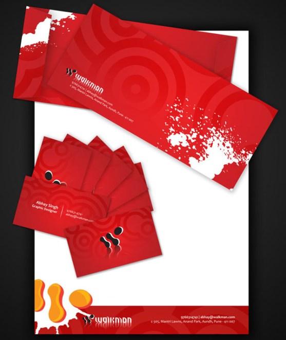 Contoh Desain Kop Surat dan Kartu Nama Paling Kreatif - Contoh-Desain-Kop-Surat-Kreatif-01-Walkman-Stationery-Design