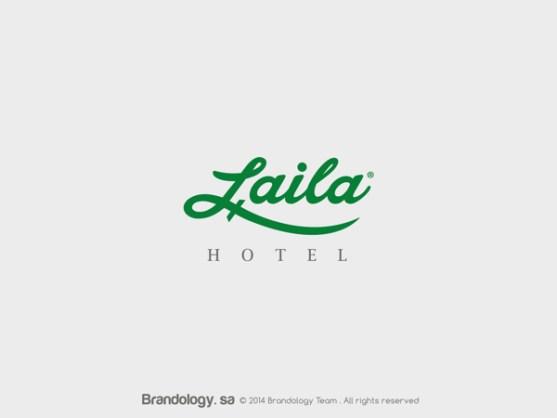 Desain Logo Islami Berbahasa Arab dari Timur Tengah - Desain-Logo-Arabic-18-Laila-Hotel