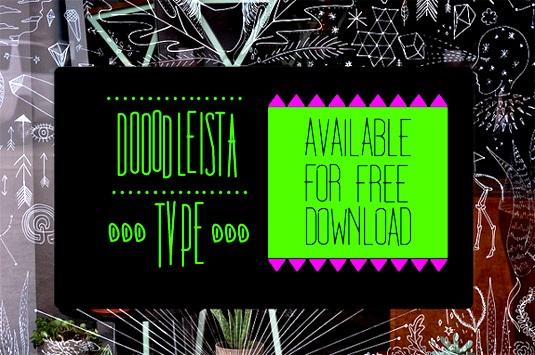 Download 100 Font Gratis untuk Desain Grafis dan Web - Dooodleista Free Font