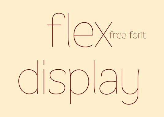Download 100 Font Gratis untuk Desain Grafis dan Web - Flex Display Free Font