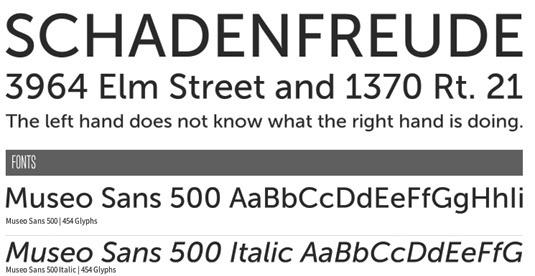 Download 100 Font Gratis untuk Desain Grafis dan Web - Museo Sans 500 Free Font