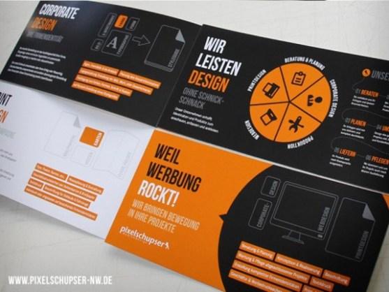 Contoh Brosur dengan Desain Dominasi Warna Hitam - Weil-Werbung-BrosurDesain-Warna-Hitam