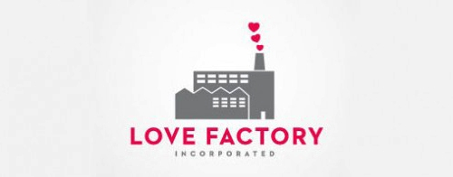 Contoh Logo Bertemakan Hati Love Heart - love-factory