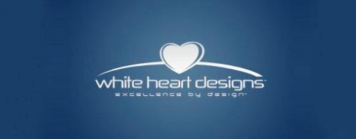 Contoh Logo Bertemakan Hati Love Heart - white-heart-designs
