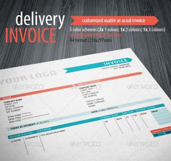 Contoh Invoice Desain Modern - Delivery-Invoice-Template