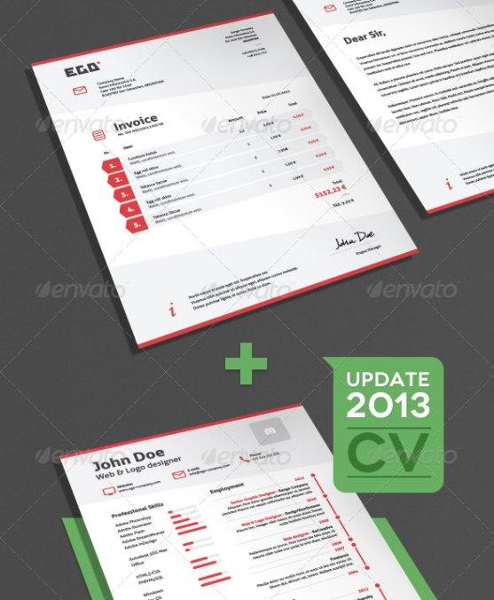 Contoh Invoice Desain Modern - Invoice-CV