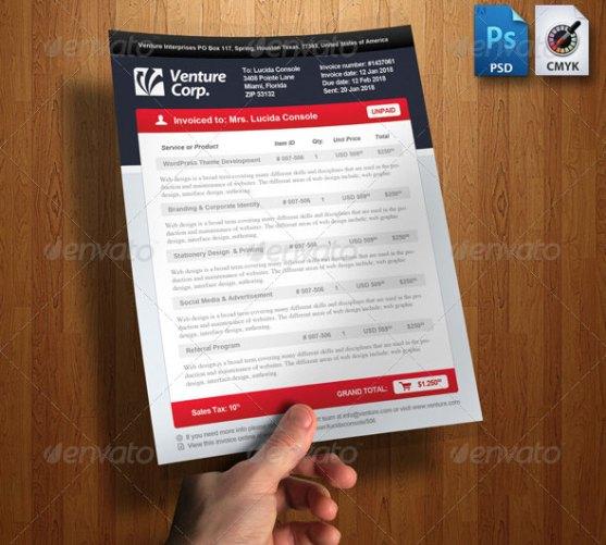 Contoh Invoice Desain Modern - Modern-Invoice-Template