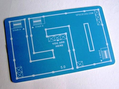 Contoh Desain Kartu Nama yang Unik - location-map-like-business-card