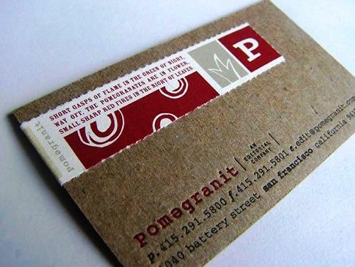 Contoh Desain Kartu Nama yang Unik - press-printed-business-card