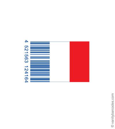 Desain Barcode Keren yang Unik - desain barcode unik kreatif vanitybarcodes - barcode seperti bendera2