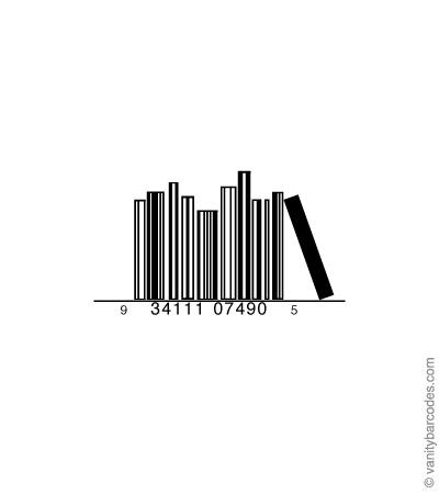 Desain Barcode Keren yang Unik - desain barcode unik kreatif vanitybarcodes - barcode seperti buku-buku