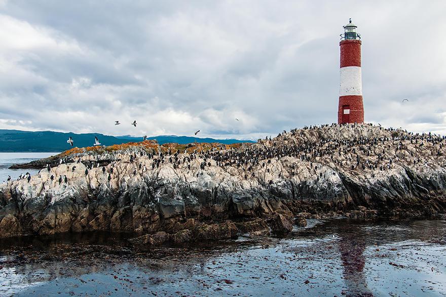 Mercusuar Terindah di Dunia - Gambar Foto Lampu Mercusuar Beagle Channel, Argentina Chile