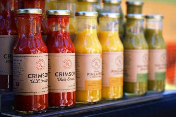 Desain Kemasan Sambal Saus yang Kreatif - Desain Kemasan Makanan Saus Sambal - Bravado Spice Co. oleh Joel Owen Schierloh