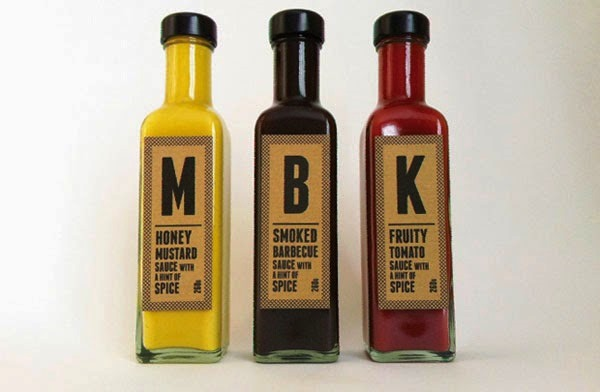 Desain Kemasan Sambal Saus yang Kreatif - Desain Kemasan Makanan Saus Sambal - Mustard, BBQ and Ketchup oleh Greater Third