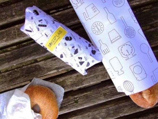 Contoh Kreatif Desain Kemasan Produk Makanan - Desain-Kreatif-Kemasan-Makanan-Bakers-Lab-oleh-Heegyum-Kim
